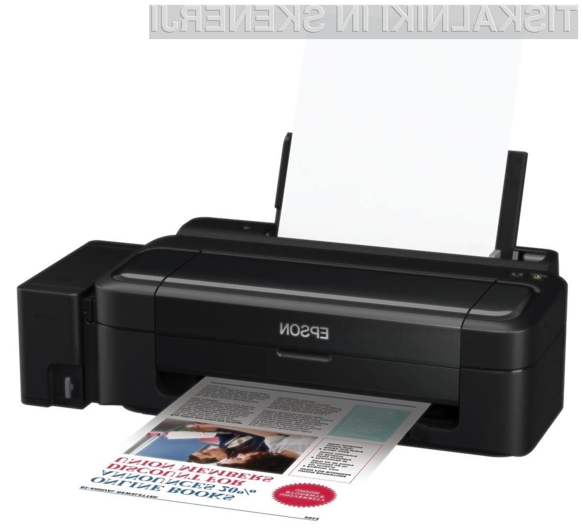Podarjamo 8 tiskalnikov Epson L110