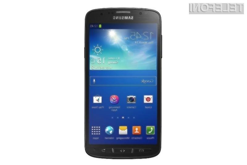 Samsung razkril neuničljivi mobilnik Galaxy S4 Active