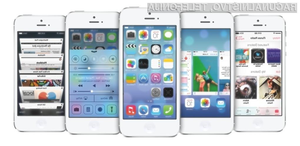 Novi iOS 7 ima veliko izposojenih vizualnih elementov.