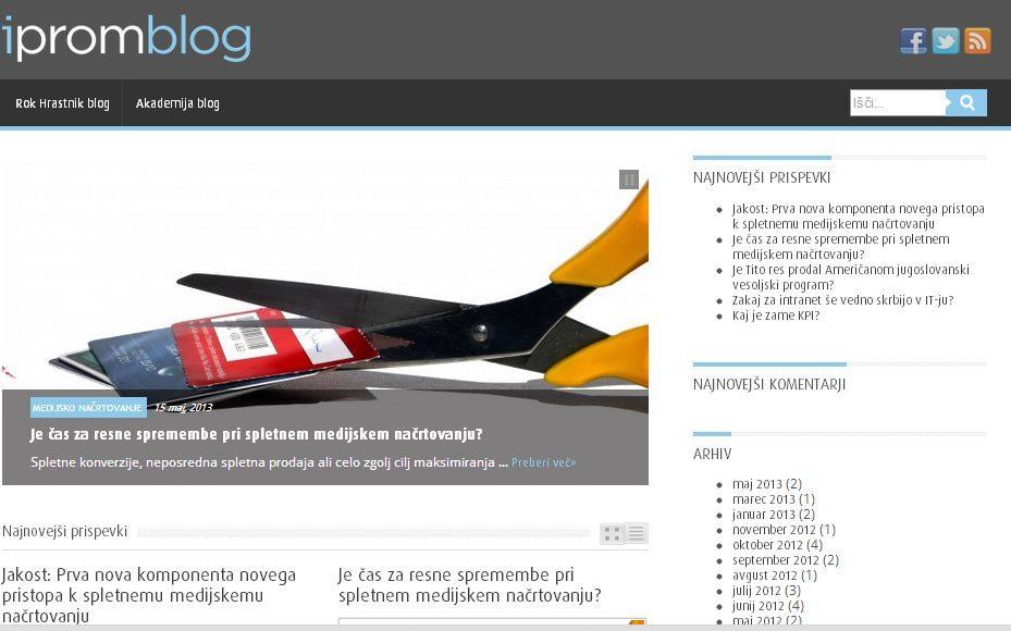 iPROM-ov izobraževalni blog za slovensko marketinško javnost