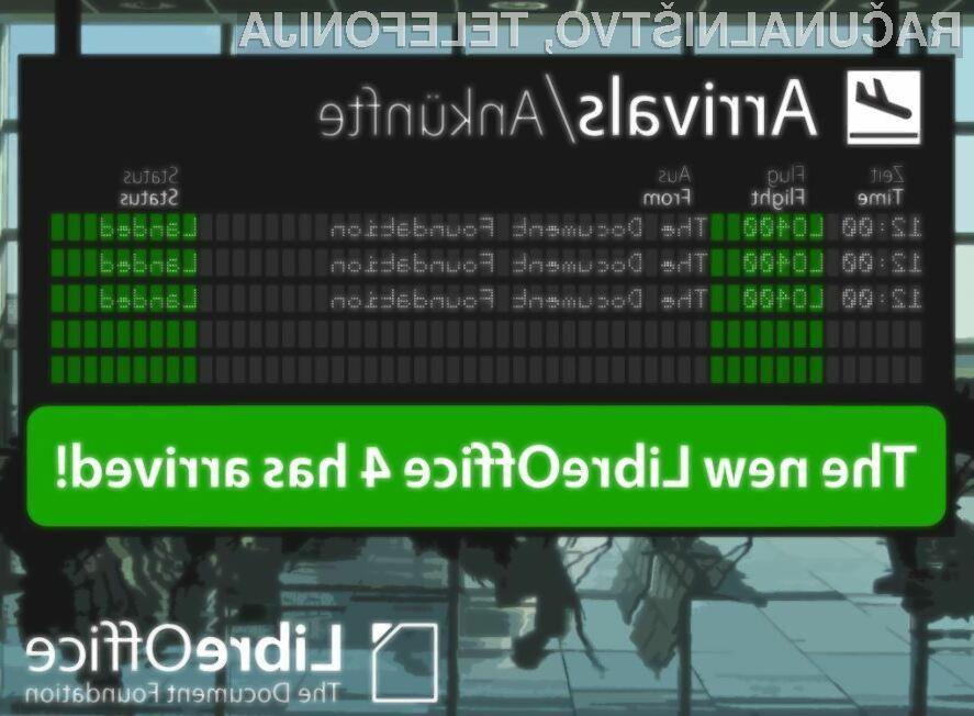 Pisarniški paket LibreOffice 4.0.4 vas zagotovo ne bo razočaral!