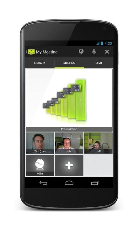 Spletni sestanek z Androida - video konferenca in predstavitev