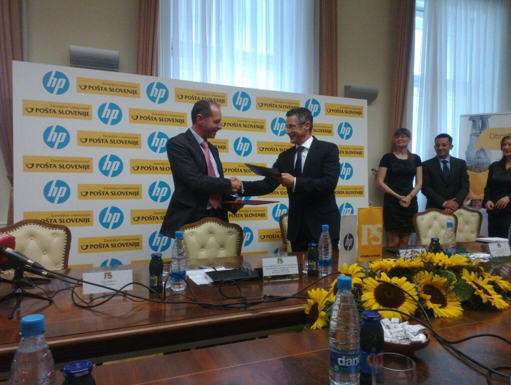 Pošta Slovenija in HP sta podpisala pogodbo o razvoju, prodaji in trženju oblačnih storitev.