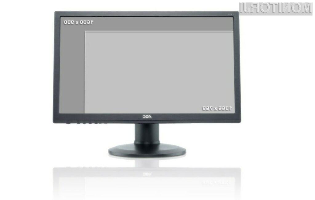"""Večja ločljivost za večje udobje uporabnika: novi 49,5 cm (19,5"""") monitorji AOC."""