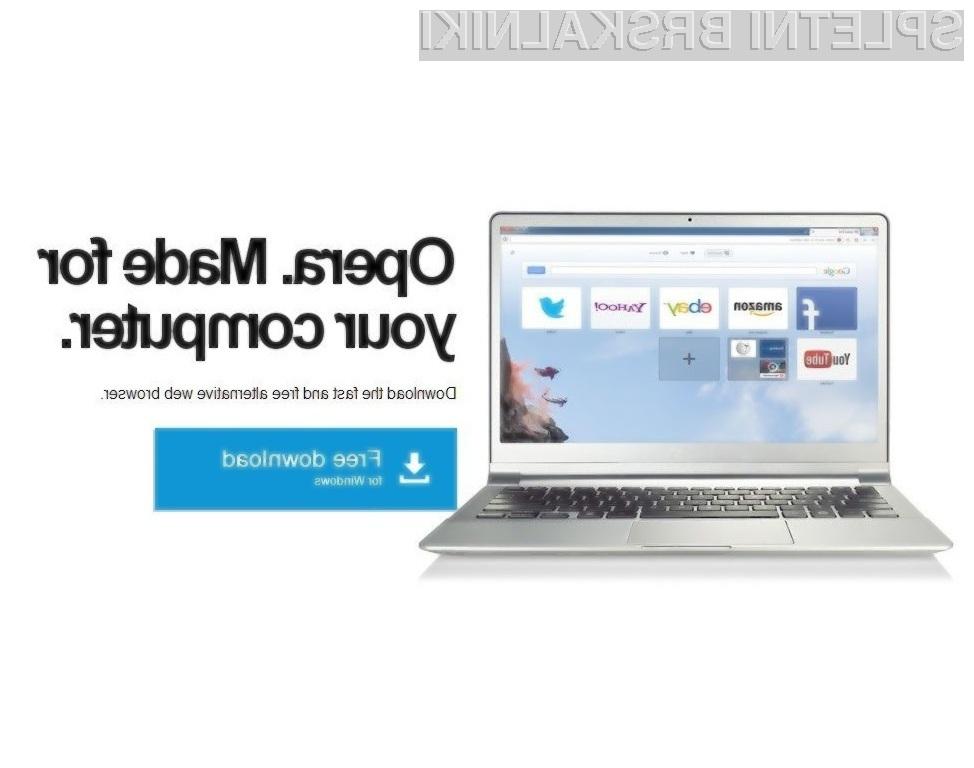 Hiter, zanesljiv in varen brskalnik Opera 15 je vredno vsaj enkrat preizkusiti v živo!