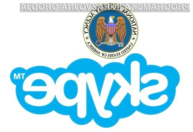 Vohunjenje za uporabniki programa Skype naj bi vohunski agenciji NSA omogočil Microsoft.