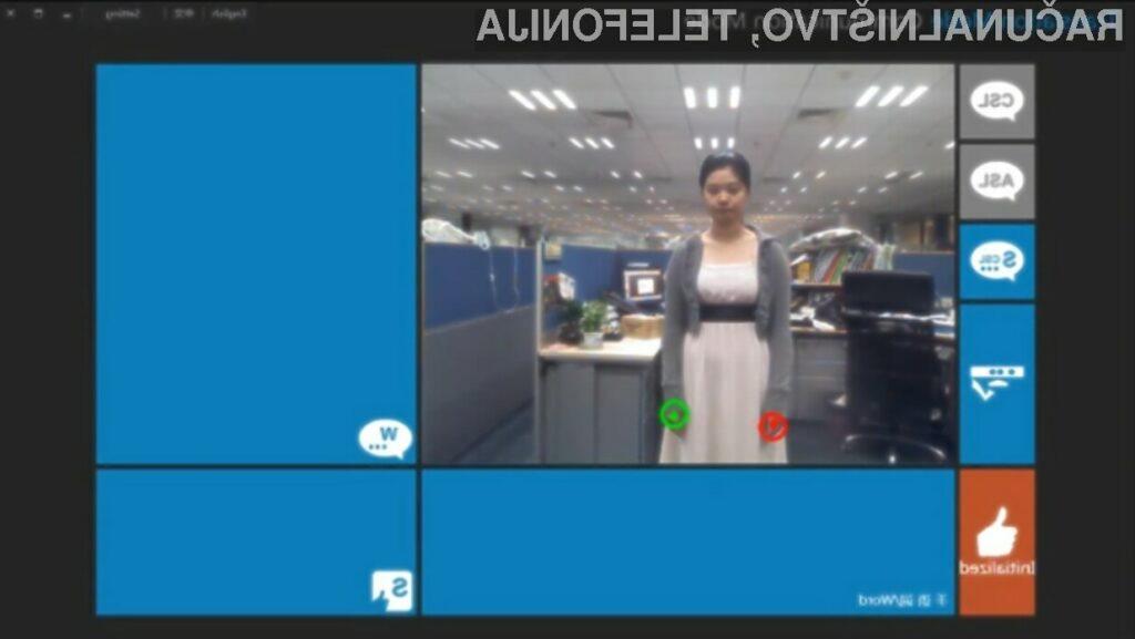Microsoftov krmilni sistem Kinect se v vlogi tolmača znakovnega jezika obnese več kot odlično!