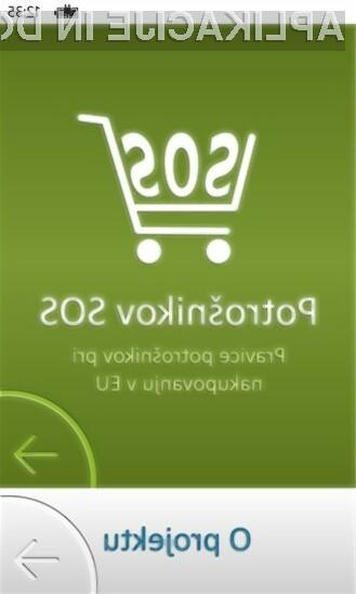 Aplikacija Potrošnikov SOS nudi informacije o pravicah potrošnikov.
