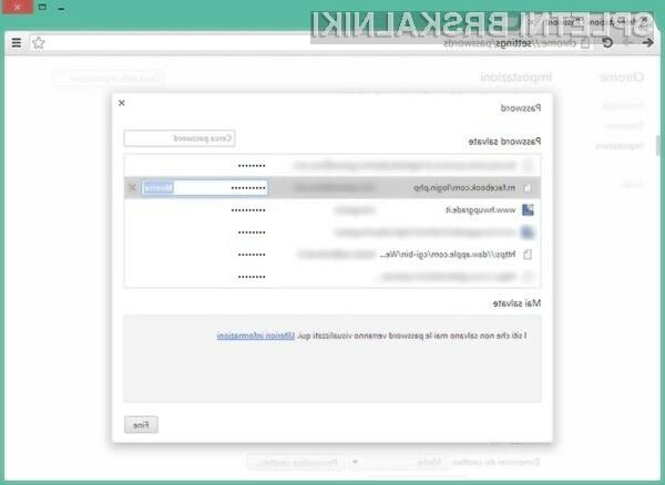 Prikaz shranjenih gesel v spletnem brskalniku Google Chrome je otročje lahko!