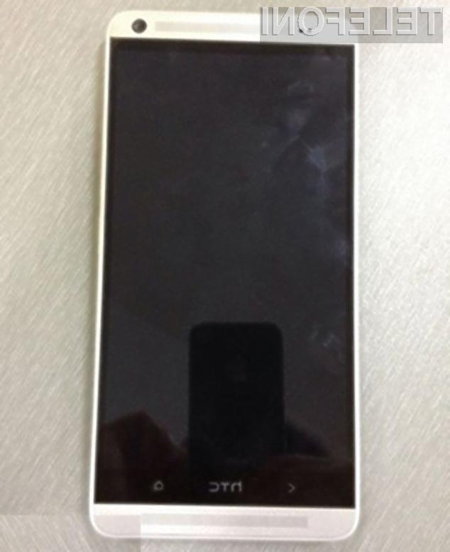 Pametni mobilni telefon HTC One Max naj bi razpolagal s kar 5,9-palčnim zaslonom visoke ločljivosti!