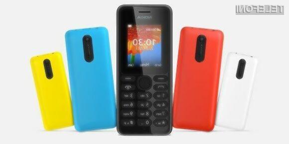 Mobilni telefon Nokia 108 ima celo podporo za dve pomnilniški kartici SIM.