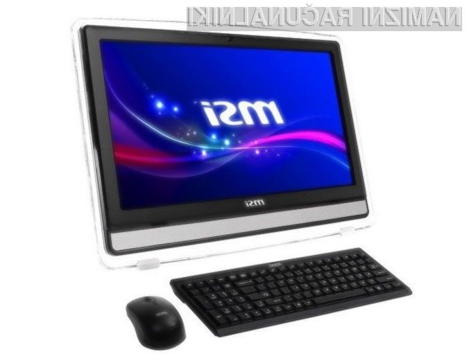 Osebni računalnik MSI AE220 je kot nalašč za predvajanje večpredstavnostnih vsebin.