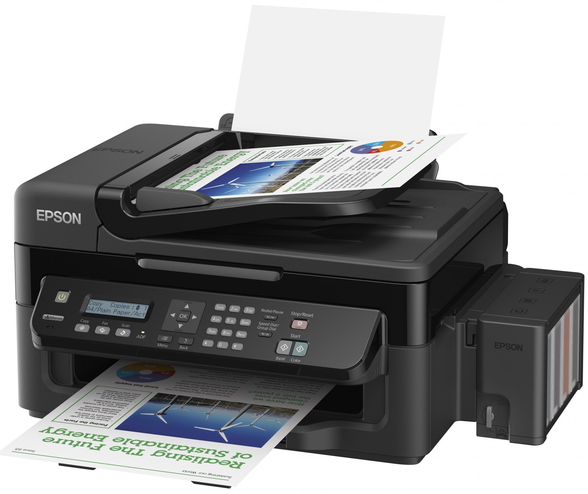 Epsonova L serija tiskalnikov vsebuje svoje lastne rezervoarje s črnilom.