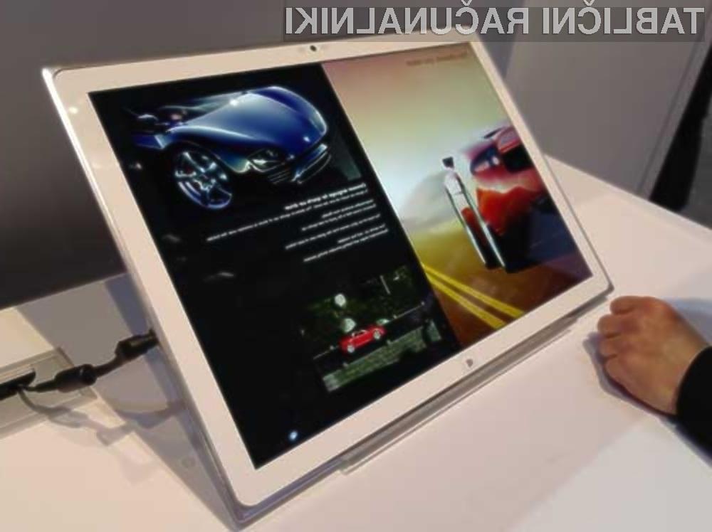 Panasonic je gigantski tablični računalnik pripravil v sodelovanju z Microsoftovimi inženirji.
