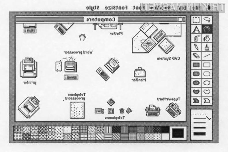 Program MacPaint je med letoma 1984 in 1988 navduševal lastnike Applovih osebnih računalnikov Macintosh!