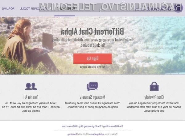 Sporočilni sistem BitTorrent Chat nas bo obvaroval pred prestrezanjem s strani vohunskih organizacij!