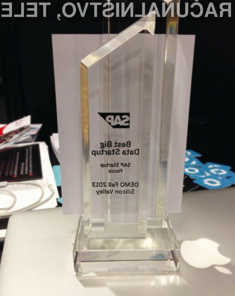 """Databox prejel nagrado za """"Best BigData Startup"""""""