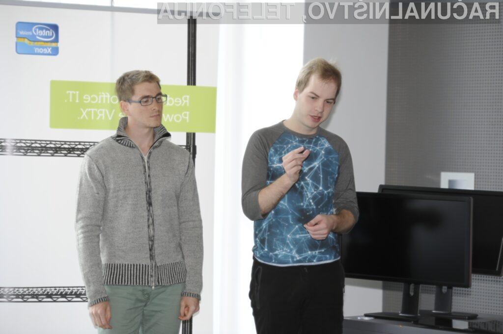 Ekipa, ki pripravlja aplikacijo Keyboarder: Luka Perčič in Nejc Lešek