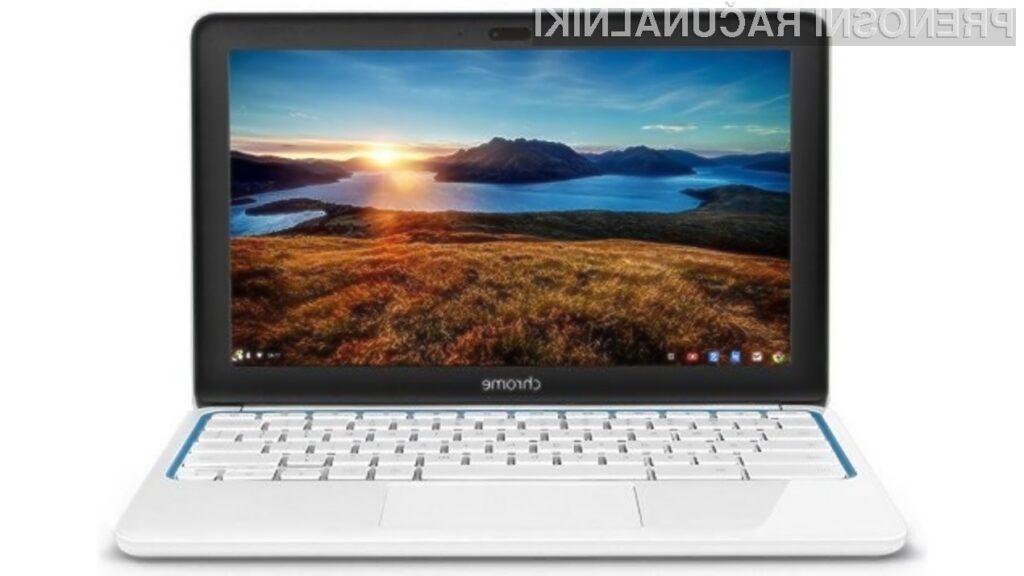 Miniaturni prenosni računalnik HP Chromebook 11 je dovolj zmogljiv tudi za nekoliko zahtevnejša opravila!