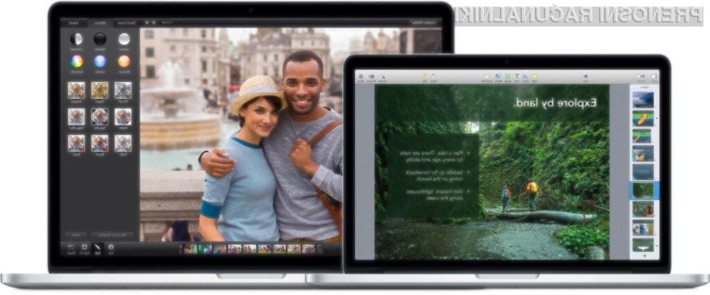 Prenovljena prenosnika Apple MacBook Pro sta opremljena z zmogljivejšimi procesorji, prenovljeno grafiko in hitrejšo brezžično povezavo!