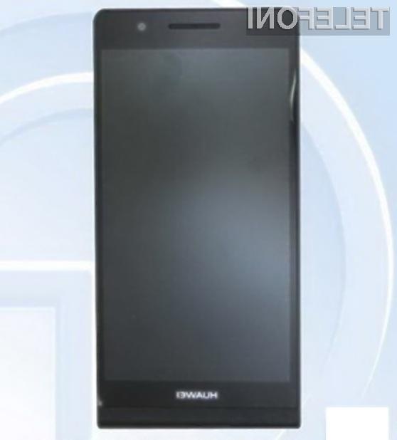 Pametni mobilni telefon Huawei Ascend P6S naj bi bil naprodaj še pred koncem leta!
