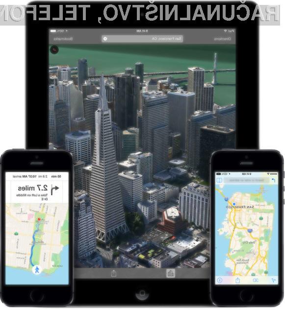 Apple Maps je v slabem letu dni na svojo stran uspel pridobiti kar tretjino uporabnikov sistema Google Maps.