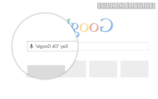 Google Voice Search Hotword za spletni brskalnik Google Chrome vas bo takoj prevzel!