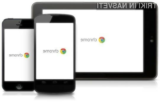 Prenovljen mobilni spletni brskalnik Chrome olajšuje izpolnjevanje spletnih obrazcev!