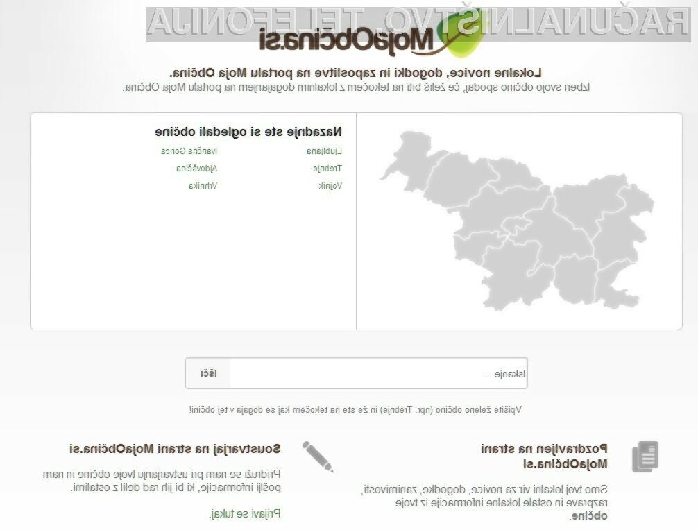 Portal MojaObčina.si nudi lokalne novice in napovedi lokalnih dogodkov.
