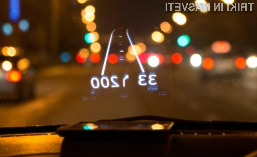Hudway je za voznika povsem varen navigacijski sistem.