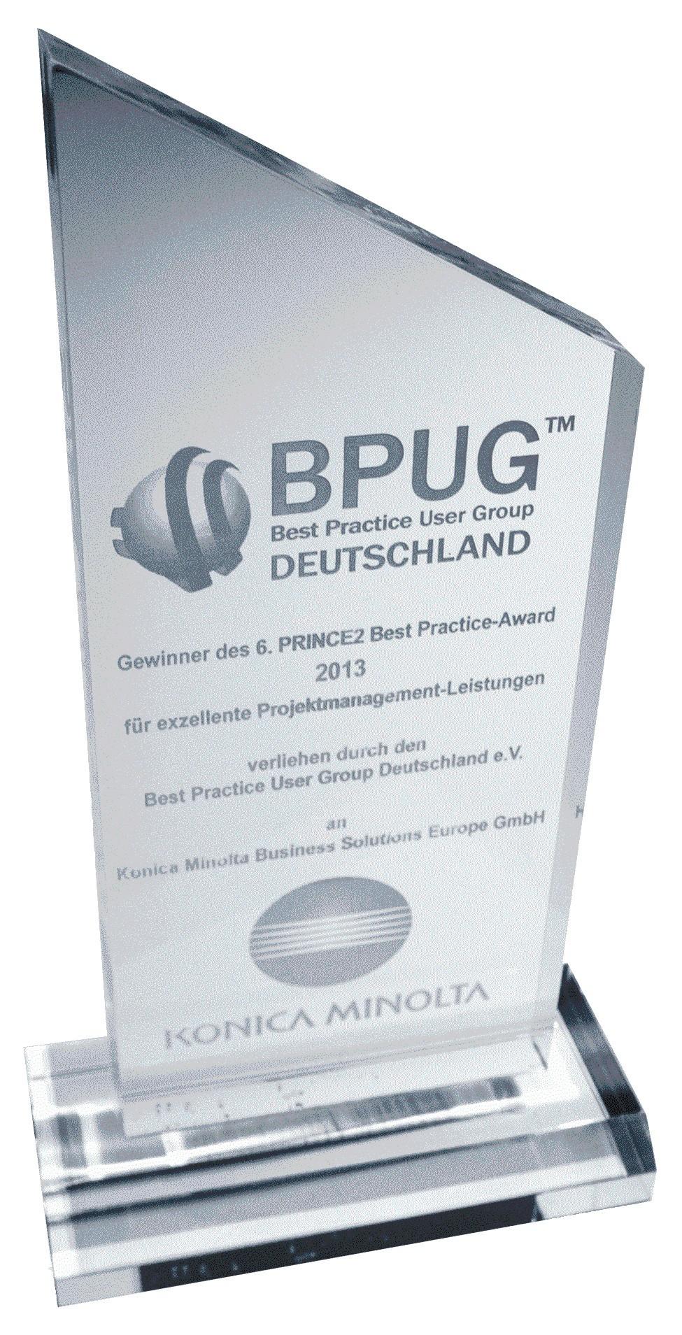 Konica Minolta je osvojila nagrado PRINCE2 Best Practice Award 2013