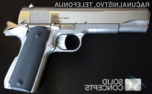 Prva kovinska pištola, natisnjena s 3D tiskalnikom!