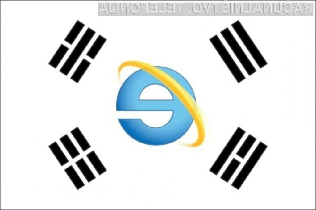 Spletni brskalnik Internet Explorer v Južni Koreji uporablja kar tri četrtine uporabnikov svetovnega spleta!