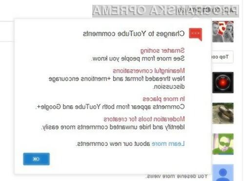YouTube je končno izboljšal komentarje.