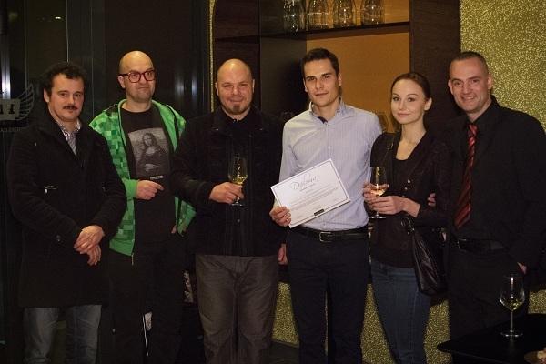 Matija Škof (E-laborat); Vuk Ćosić; Primož Žižek (E-laborat); Jurij Lah (Pbs) s spremljevalko, Luka Kogovšek (vodja NETFORK Akademije)