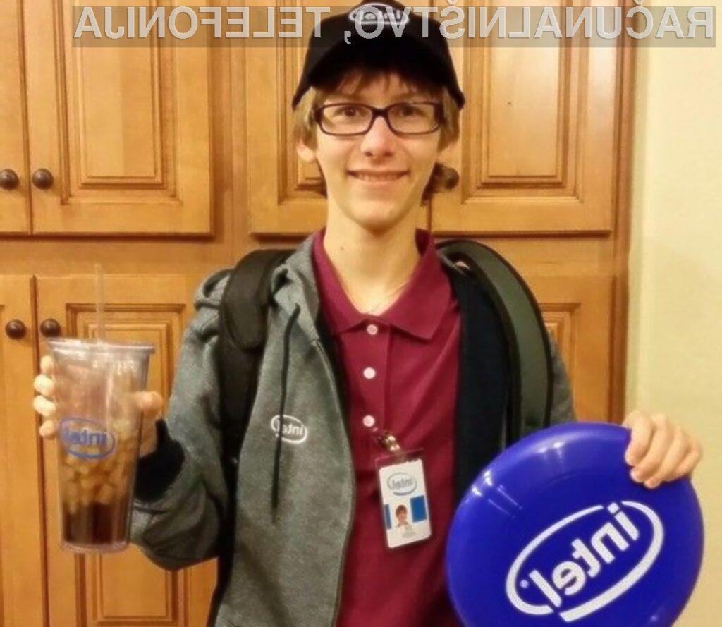 Inovativni mladenič Joey Hudy se je takoj prikupil prvemu možu podjetja Intel Brianu Krzanichu.