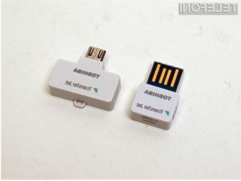 Vmesnik Toshiba TransferJet omogoča izjemno hiter brezžičen prenos podatkov na kratke razdalje.
