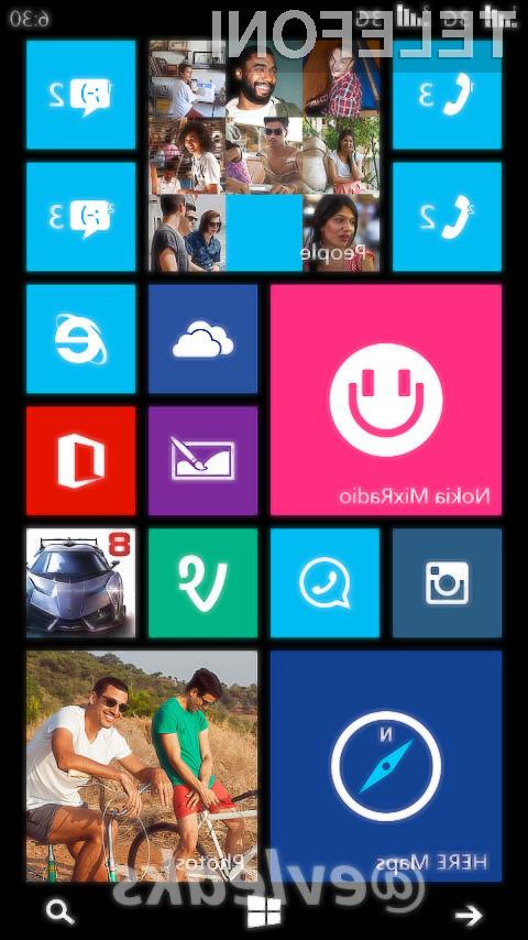 Eden glavnih adutov mobilnika Nokia Lumia 630 bodo tri navidezne tipke pod tipkovnico, in sicer za »Nazaj« »Domov« in »Iskanje«.