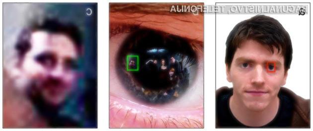 Kmalu naj bi bilo mogoče osebe iz odseva slike na očesu prepoznati tudi iz precej večjih razdalj in slik znatno nižje kakovosti.