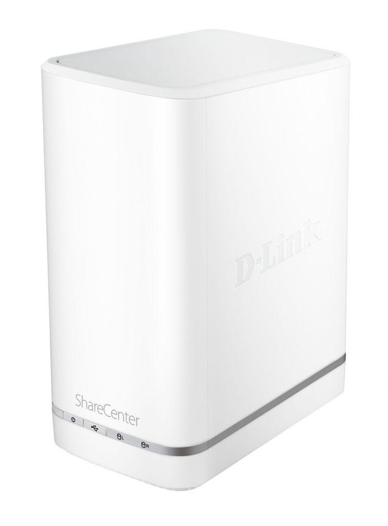 Oblačni pomnilnik z možnostjo priklopa dveh trdih diskov za mrežno shranjevanje podatkov, ki je opremljen z oblačnimi storitvami mydlink™ in ne zahteva nobene konfiguracije.