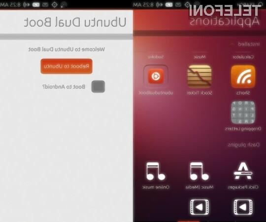 Mobilna operacijska sistema Android in Ubuntu bo kmalu moč uporabljati na eni mobilni napravi.