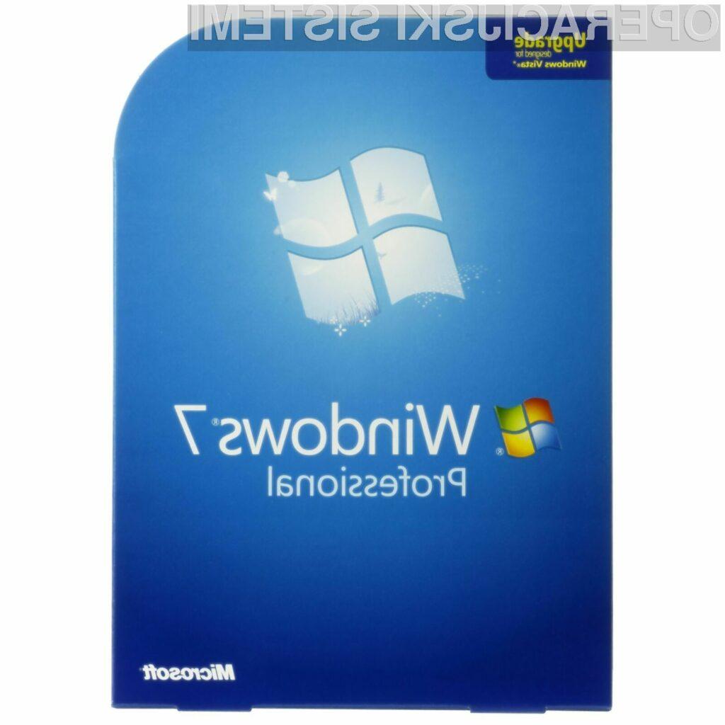 Operacijski sistem Windows 7 bo odslej na voljo le še skupaj z novimi namiznimi in prenosnimi računalniki.
