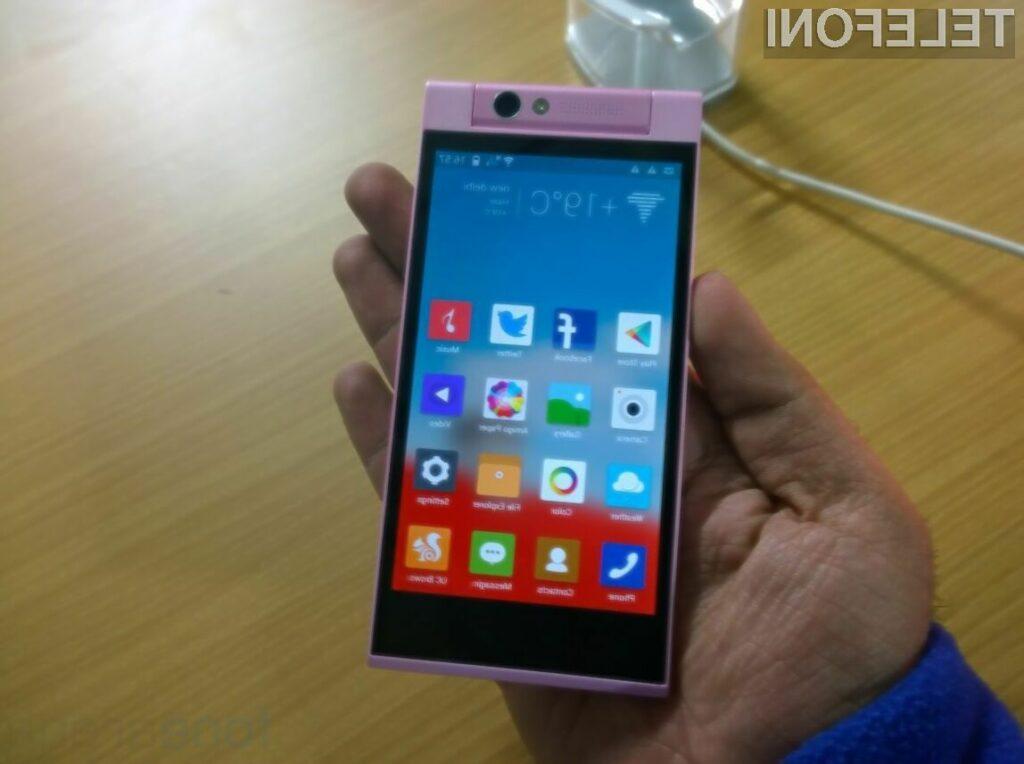 Pametni mobilni telefon Elife E7 mini se bo zlahka prikupil ljubiteljem digitalne fotografije!