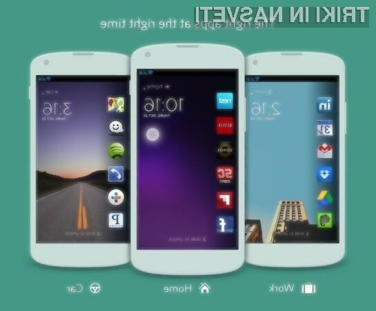 Cover poskrbi za samodejno prilagoditev bližnjic do programov, ki so dostopni ob zaklenjenem zaslonu.