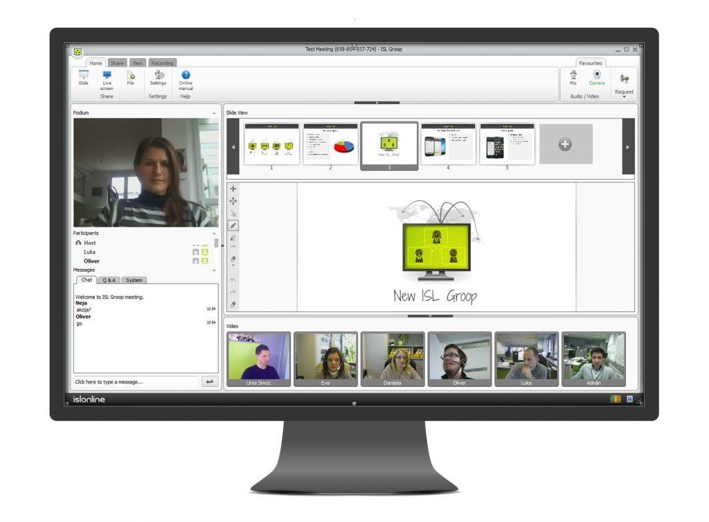 Spletne konference tečejo z novim ISL Groop 3.0 gladko in brez zamikov