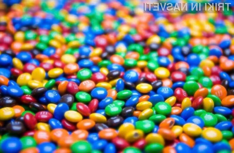 Razraščanje bombonov Skittles in M&M's po barvah še nikoli ni bilo enostavnejše!