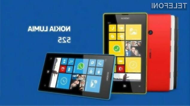 Za pametni mobilni telefon Nokia Lumia 525 bo pri nas po vsej verjetnosti potrebno odšteti le okoli 200 evrov.