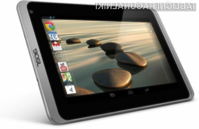 Tablični računalnik Acer Iconia B1-720 bo zlahka prepričal tudi nekoliko zahtevnejše uporabnike.