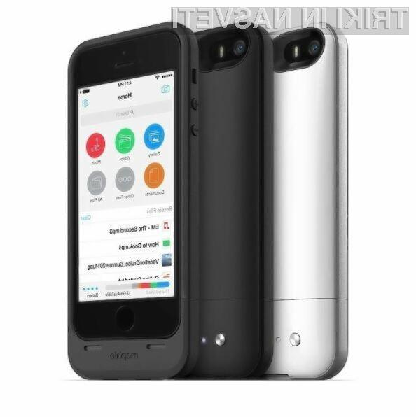 Ohišje Space Pack podjetja Mophie uporabnikom Applovih mobilnikov prinaša dodatno baterijo in dodaten pomnilnik.