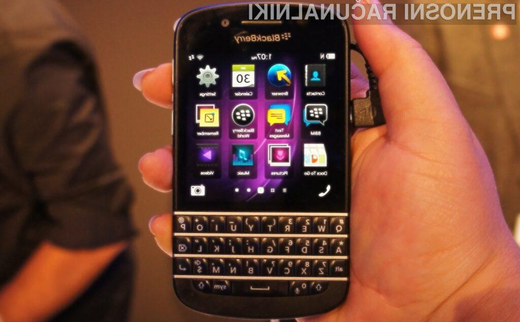 Večina novih telefonov BlackBerry bo imela fizične tipkovnice.